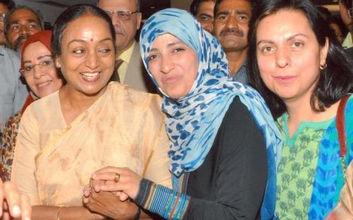 Member NCW interacts with Ms.Tawakkol Karman, The Youngest Nobel Laureate – Peace, 2011 at Babu Jagjivan Ram Fifth Memorial Lecture