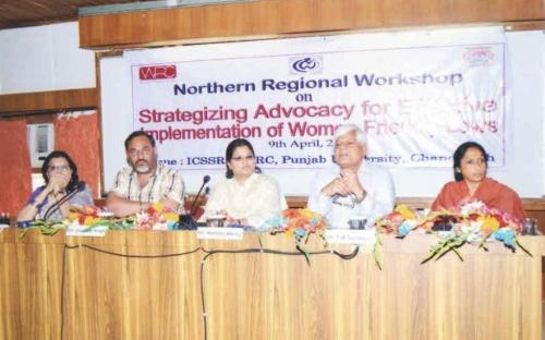"Member Hemalta Kheria attended a workshop on ""Strategizing Advocacy for Effective Implementation of Women Friendly laws"" held Chandigarh, on 9th April, 2012"