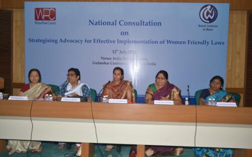 "Women Power Connect in collaboration with National Commission for Women organized a National Consultation on ""Strategizing Advocacy for Effective Implementation of Women Friendly Laws"""