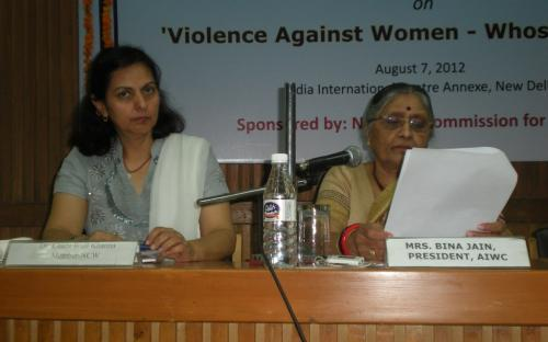 "Dr. Charu WaliKhanna and Shamina Shafique, Members NCW, attend seminar on "" Violence against Women - Whose concern"""