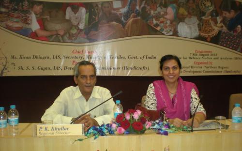 "Dr. Charu WaliKhanna Member NCW, attended seminar on ""Scheme of Handicrafts- AHVY"""