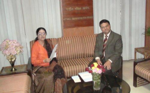 Chairperson, NCW meets Commissioner of Police, Delhi regarding violence against women in Delhi