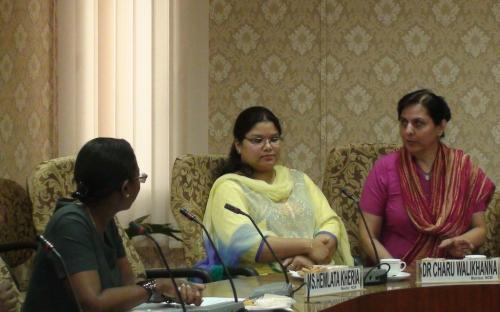 Mrs Mireille Martin, Hon'ble Minister of Gender Equality Child Development and Family welfare, Republic of Mauritius visited the Commission with H.E Dr A. K. Jagessur GOSK High Commissioner and Mrs. N. Bauhadoor Pillay Ponniswamy Second Secretary