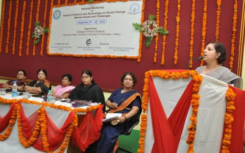 "The Commission sponsored a two days National Workshop on ""Impact of science and Technology on Social change: Women issues and challenges"", organized at College of Home Science, MPUAT, Udaipur"