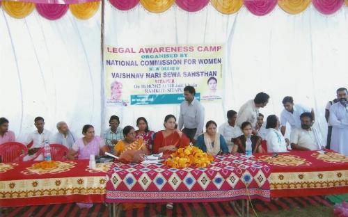 Member Shamina Shafiq attended Legal Awareness Camp, organized by Vaishnav Nari Seva Sansthan, Sitapur