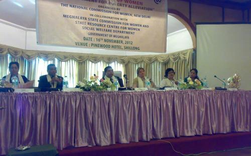 """Ms. Mamta Sharma, Hon'ble Chairperson, NCW with Member Wansuk Syiem and Member Shamina Shafiq visited Shillong to attend a Regional Conference on Empowerment of Women """"An instrument for poverty alleviation"""""""