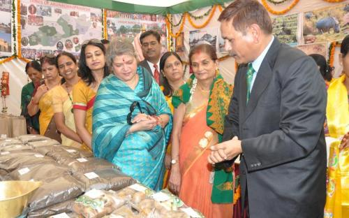 Ms. Mamta Sharma, Hon'ble Chairperson, NCW was the chief Guest and inaugurated the welfare exhibition; organize by Himveer Wives Welfare