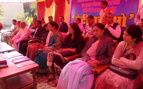 "Ms. Shamina Shafiq, Member, NCW attended a sammelan on ""Beeti Bachov"" organised by Gram Panchayat Chiriya & Beti Desh ki Shaan Foundation (Regd) Bhiwani (HR) at Govt Girls Sr. Sec. School, Village Chiriya, Distt Bhiwani (HR) on 9th December"