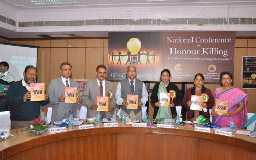 "Ms. Shamina Shafiq, Member, NCW attended a National Conference on ""Honour Killing : The Mind & The Mind Set : Challenges & Remedies"" on 13th January 2013 in the Senate Hall of the University of Rajasthan, Jaipur"