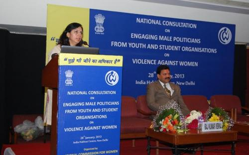 "National Commission for Women held a National Consultation titled ""Engaging Male Politicians from Youth and Student Organisations on Violence Against Women"""