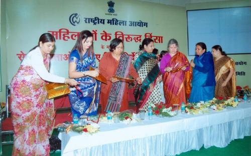 Hon'ble Chairperson released a book regarding the guidelines for the service providers in the matter of violence against women