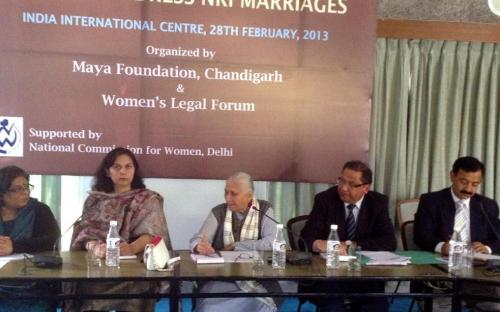 National Commission for Women (NCW) Consultation on Amendments to Laws to Address NRI Marriages was held at India International Centre, New Delhi