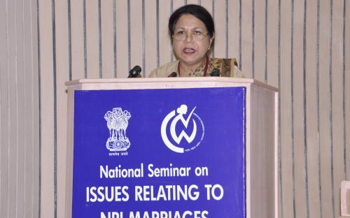 "National Seminar on ""ISSUES RELATING TO NRI MARRIAGES"" Photo(S)"