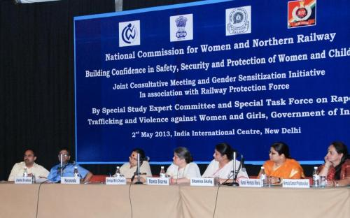 """The members of the Commission attended a consultation on """"Building Confidence in Safety, Security and Protection of Women and Children"""""""