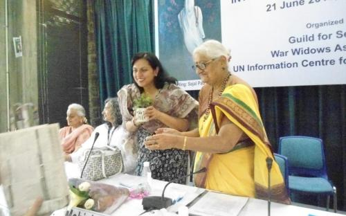 "Dr. Charu WaliKhanna, Member, was Guest of Honour at the programme celebrated to observe ""International Day of Widows"""