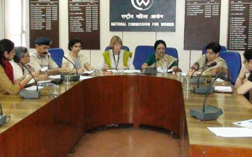 Hon'ble Chairperson, NCW at the meeting of the working group with UNIFEM