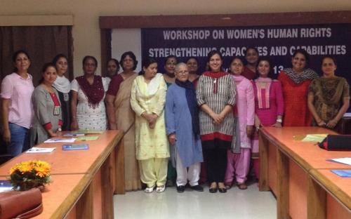Dr. Charu WaliKhanna, Member, NCW, Chief Guest at the workshop 'Women's Human Rights – Strengthening Capacities and Capabilities' at Chandigarh