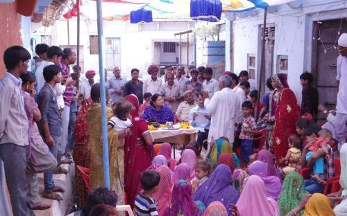 Ms. Hemlata Kheria, Member, NCW visited in Kewalpura Panchayat and Sangaria Panchayat in Sub-divisions of Badisadri, Chittorgarh, Rajasthan