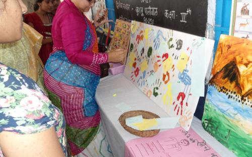 Ms. Hemlata Kheria, Member, NCW inaugurated the Youth Employment and Child Creativity fair at UPS Chatiyakheri, Gogunda, Rajasthan organised