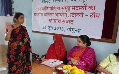 Ms. Hemlata Kheria, Member, NCW was Chief Guest at Mahila Sangoshthi at Alert Training Centre, Gogunda, Udaipur