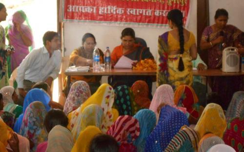 Ms. Hemlata Kheria, Member, NCW, visited Matugauda Panchayat and Sunderpur Panchayat, Dungarpur, Rajasthan