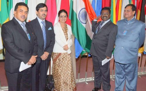 Chairperson, NCW with the Indian Delegation at the UN Assembly