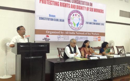 Dr. Charu WaliKhanna, Member, NCW, Guest of Honour at 'National Consultation on Protection of Dignity and Rights of Sex Workers', New Delhi
