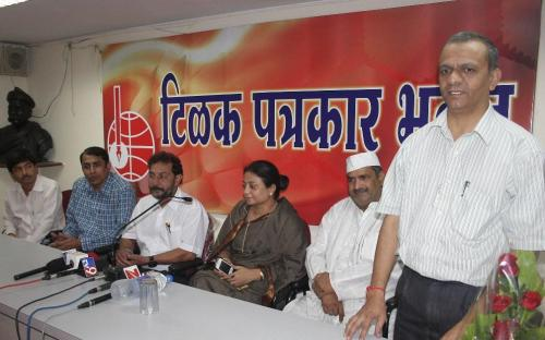 "Ms. Shamina Shafiq, Member, NCW interacted with Nagpur media during a ""Meet the Press"" programme organized by Nagpur Union of Working Journalist (NUWJ) at Tilak Patrakar Bhawan, Nagpur"