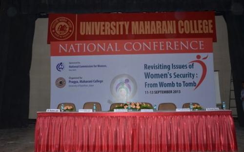 """Smt. Mamta Sharma, Hon'ble Chairperson, NCW was the Chief Guest for the National Conference on """"Revisiting Issues of Women Security from womb to tomb"""""""