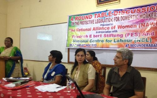 "Dr. Charu WaliKhanna, Member, NCW, was Chief Guest at Round Table Discussion on ""Need for Protective Legislation for Domestic Workers"" at Hyderabad"