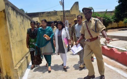Ms. Hemlata Kheria, Member, Ncw Inspected District Jail, Puri in Odisha