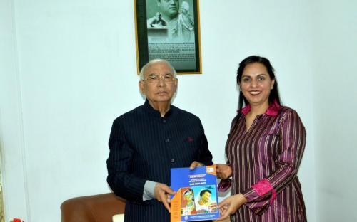 Dr. Charu WaliKhanna, Member, NCW had audience with the Hon'ble Governor of Karnataka, Dr. Hansraj Bhardwaj
