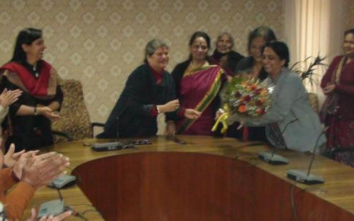 Smt. Mamta Sharma, Chairperson, NCW welcomed the new Member Secretary Dr. (Ms.) Nandita Chatterjee