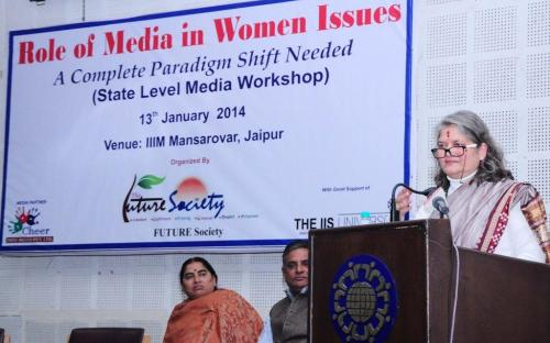 "Smt. Mamta Sharma, Chairperson, NCW attended a State Level Workshop on ""Role of Media in Women Issues – A Complete Paradigm Shift Needed"" at IIIM Mansarovar, Jaipur"