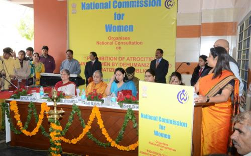 """Hon'ble Chairperson organized a two-day National Consultation on 27th and 28th of February, 2014 at Jaipur, Rajasthan on """"Prohibition of Atrocities against Women by Dehumanizing and Stigmatizing them in public"""""""