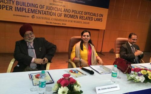 "Dr. Charu WaliKhanna, Member, NCW was Chief Guest at Workshop on ""Capacity Building of Judicial & Police Officials on proper implementation of women related laws"""