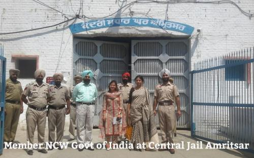 Smt. Shamina Shafiq, Member, NCW, visted Vocational Training Center, Central Jail, Amritsar