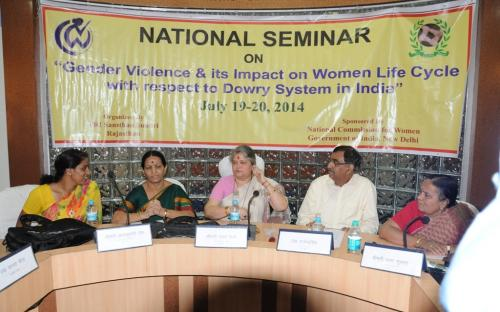 """The Commission organized a National Seminar on """"Gender Violence and its Impact on Women Life Cycle with respect to Dowry System in India"""""""