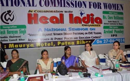 """Dr. Charu WaliKhanna, Member, NCW, Guest of Honour at NCW National Seminar on """"Violence Against Women Mainly focusing on Safety of Women at Public Places and Education Centers"""""""