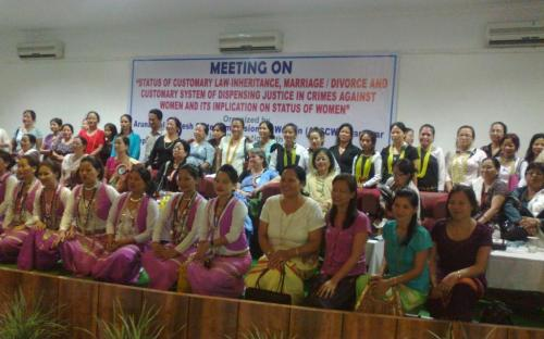 "State Women Commission organized a meeting on ""Status of customary laws – inheritance, marriage-divorce and customary system of dispensing justice in crime against women and its implication on status of women"
