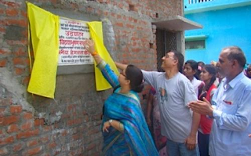 Ms. Hemlata Kheria, Member, NCW inaugurated Maa Savitri Bai Phule Mahila Swavlamban Kendra at Malwabar Musahaar Basti