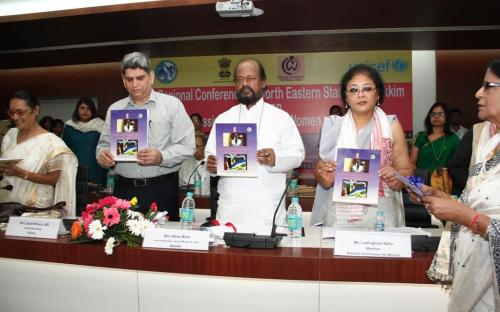 "On the occasion of launching the booklet published by Assam State Commission for Women on ""Crime Against Women and Legal Provisions"""