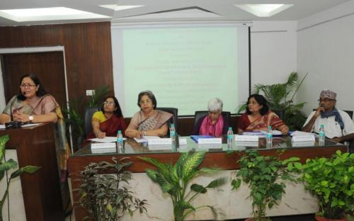 Smt. Lalitha Kumaramangalam, Hon'ble Chairperson, NCW addressing the gathering