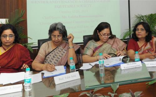 Smt. Lalitha Kumaramangalam, Hon'ble Chairperson, NCW inaugurated two days National Seminar on Gender and Violence