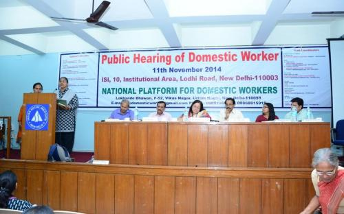 Chairperson, NCW attended the Public Hearing of Domestic Worker