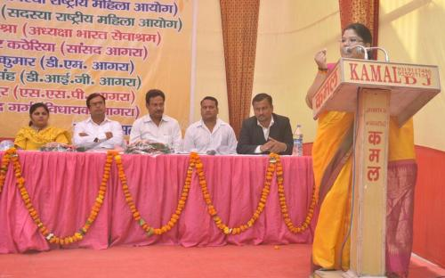 Ms. Hemlata Kheria, Member, NCW addressing the participants during seminar on Dowry at Uttar Pradesh