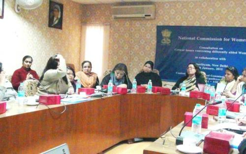 "The Commission organized a consultation on ""Critical issues concerning differently abled women in collaboration with Samarthyam, New Delhi on 6th January, 2015"