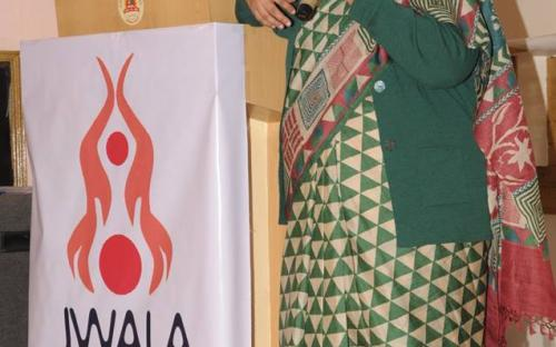 Smt. Lalitha Kumaramangalam, Chairperson, NCW addressing the gathering