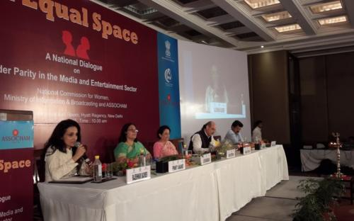 (Frm L to R) Ms. Lalitha Kumaramanglam, Chairperson, NCW, Shri Prakash Javadekar Minister Information & Broadcasting