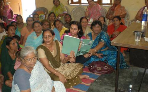 Dr. Ms Charu WaliKhanna, Member NCW interacting with women on 23.09.2011 at Bhangwantpur Village, UK